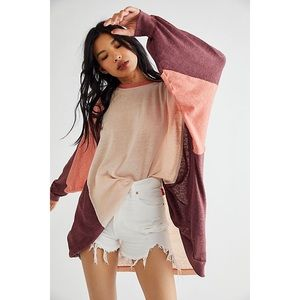 Free People Home Stretch Oversized Top